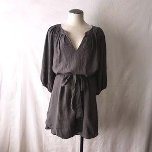 Black Halo Boho 3/4 Sleeve Tunic Dress w/ties
